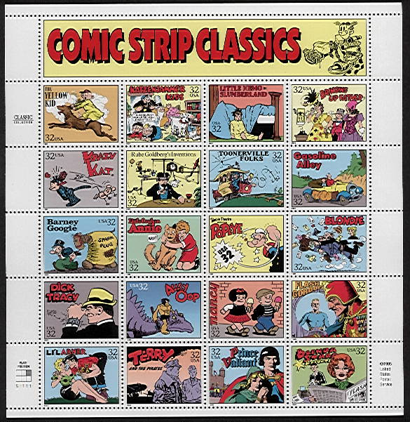 Comic strip classics stamps talented